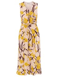 Whistles Amelia Lilly Print Jumpsuit Pink Multi