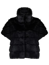 Marella Afosi Faux Fur Cape Black