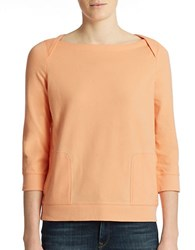 Lord And Taylor Plus Lounge Top Soft Coral