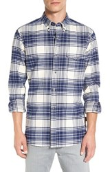 French Connection Men's 'Tail Dagger' Trim Fit Plaid Twill Sport Shirt