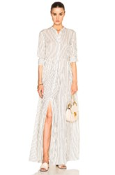 Brock Collection Disco Dress In Stripes Neutrals