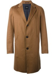 Theory Reversible Single Breasted Coat Nude Neutrals