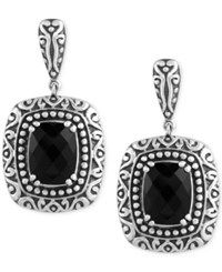 Effy Collection Balissima By Effy Onyx 6 4 5 Ct. T.W. Drop Earrings In Sterling Silver