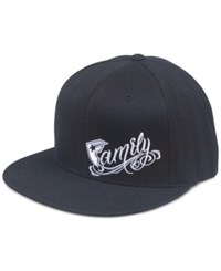 Famous Stars And Straps Men's Family Business Embroidered Flexfit Hat Black White