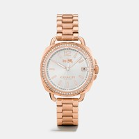 Coach Tatum Rose Gold Tone Sunray Dial Set Bracelet Watch
