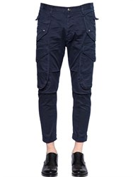 Dsquared2 Stretch Cotton Twill Cargo Pants