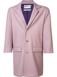 Bristol Single Breasted Coat Pink Purple