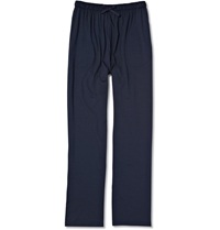 Derek Rose Stretch Micro Modal Lounge Trousers Blue
