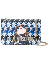 Love Moschino Chain Strap Shoulder Bag Blue
