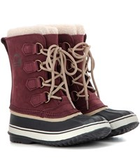 Sorel 1964 Pactm 2 Suede And Rubber Boots Red