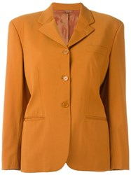 Romeo Gigli Vintage Padded Shoulder Blazer Yellow And Orange