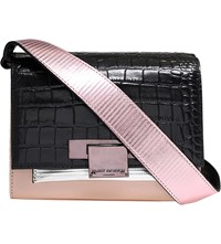 Kurt Geiger Annabel Leather Cross Body Bag Pink Comb