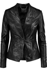 Muubaa Shaula Leather Jacket Black