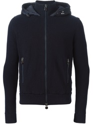 Moncler Padded Back Cardigan Blue