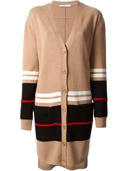 Givenchy Striped Oversize Cardigan Nude And Neutrals