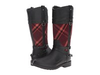 Chooka Canter Plaid Riding Rain Boot Red Women's Rain Boots