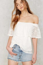 In Bare Form Off The Shoulder Lace Top
