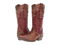 Ariat Zealous Gingersnap Rosy Red Cowboy Boots Brown
