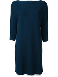 Twin Set Knitted Sweater Dress Blue
