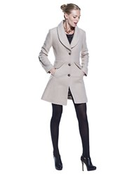Kenneth Cole Reaction Single Breasted Shawl Collar Coat Ivory