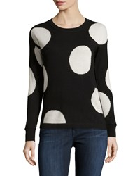 Philosophy Cashmere Cashmere Polka Dot Sweater Black Pure