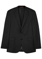 Oscar Jacobson Fuego Charcoal Wool Jacket Grey