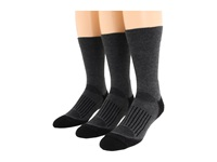 Fox River Trail Crew 3 Pair Pack Dark Grey Crew Cut Socks Shoes Gray