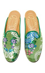 Stubbs And Wootton Valencia Emerald Mule Green