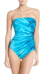 Women's Miraclesuit 'Ray Of Light' Underwire Bandeau One Piece Swimsuit