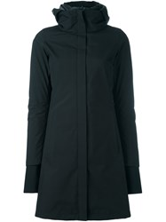 Herno Zip Up Hooded Raincoat Black