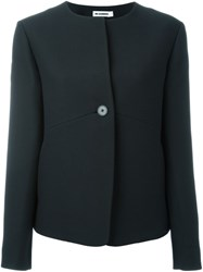 Jil Sander Collarless Buttoned Jacket Black