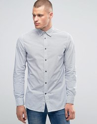 Diesel S Pink Chevron Print Shirt White Grey