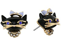 Kate Spade Jazz Things Up Cat Studs Earrings Black Multi Earring