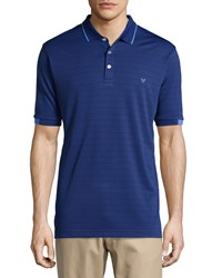 Callaway Striped Short Sleeve Polo Shirt Blueprint