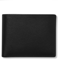 Perry Ellis Leather Park Avenue Bifold Wallet Black
