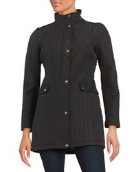 Weatherproof Plus Ribbon Quilted Jacket Black