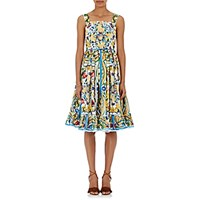 Dolce And Gabbana Women's Maiolica Print Sundress No Color