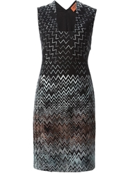 Missoni Chevron Pattern Dress Black