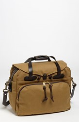 Men's Filson Padded Laptop Bag Brown Dark Tan