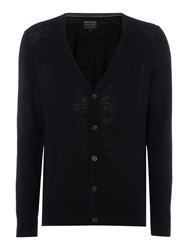 Howick Men's Arlington 100 Lambswool Cardigan Black