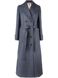 N 21 No21 Double Breasted Coat Grey