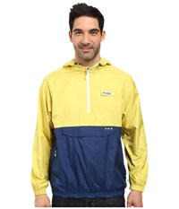 Columbia Terminal Spray Anorak Hoodie Mineral Yellow Carbon White Men's Sweatshirt