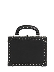 Bertoni 1949 Squared Bertoncina Studded Leather Bag