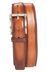 Men's Big And Tall Magnanni 'Magnum' Belt Cognac