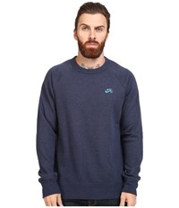 Nike Sb Icon Crew Fleece Obsidian Heather Light Photo Blue Men's Fleece