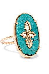 Pascale Monvoisin Sunday 9 Karat Rose Gold Turquoise Ring