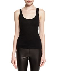 Ralph Lauren Scoop Neck Cashmere Tank Black
