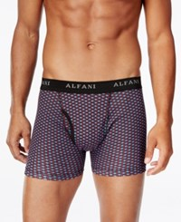 Alfani Men's 4 Pk. Printed Boxer Briefs Only At Macy's Red Blue