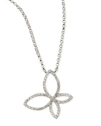 Diamond Butterfly Pendant Necklace Kc Designs White Gold