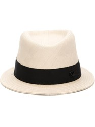 Maison Michel Woven Hat Nude And Neutrals